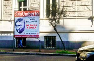 Manifesti pubblicitari IGPDecaux Stendardi a Roma per Umberto Sala