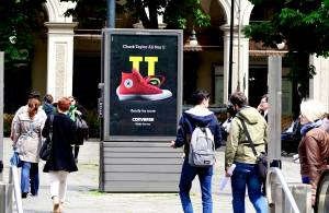 Out of Home Turin Bus Shelters + MUPI IGPDecaux for Converse