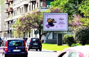 Pubblicità Out of Home IGPDecaux a Torino Senior per Bauli