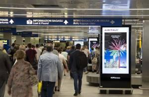 Pubblicità Linate aeroporto IGPDecaux Network Vision Aeroporto per AirItaly