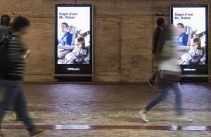 Underground advertising in Rome underground digital network for Lufthansa