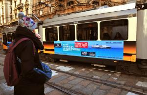 IGPDecaux Out of Home Landscape Stickers in Milan for Grimaldi Lines