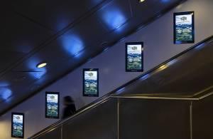 IGPDecaux DOOH Roma Digital Escalator per FAO