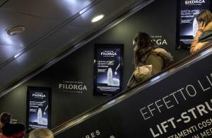 Out of Home IGPDecaux Digital Escalators in Rome for Filorga