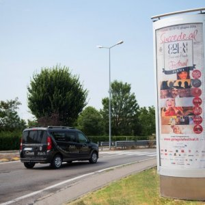 Out of Home advertising IGPDecaux column in Parma for Gola Gola festival