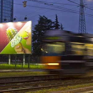 Advertising posters IGPDecaux in Milan spectacular for Spike TV