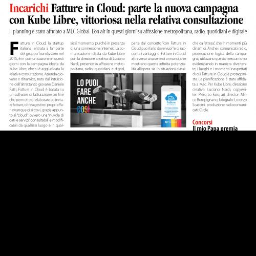 Fatture in Cloud: parte la nuova campagna con Kube Libre, vittoriosa nella relativa consultazione