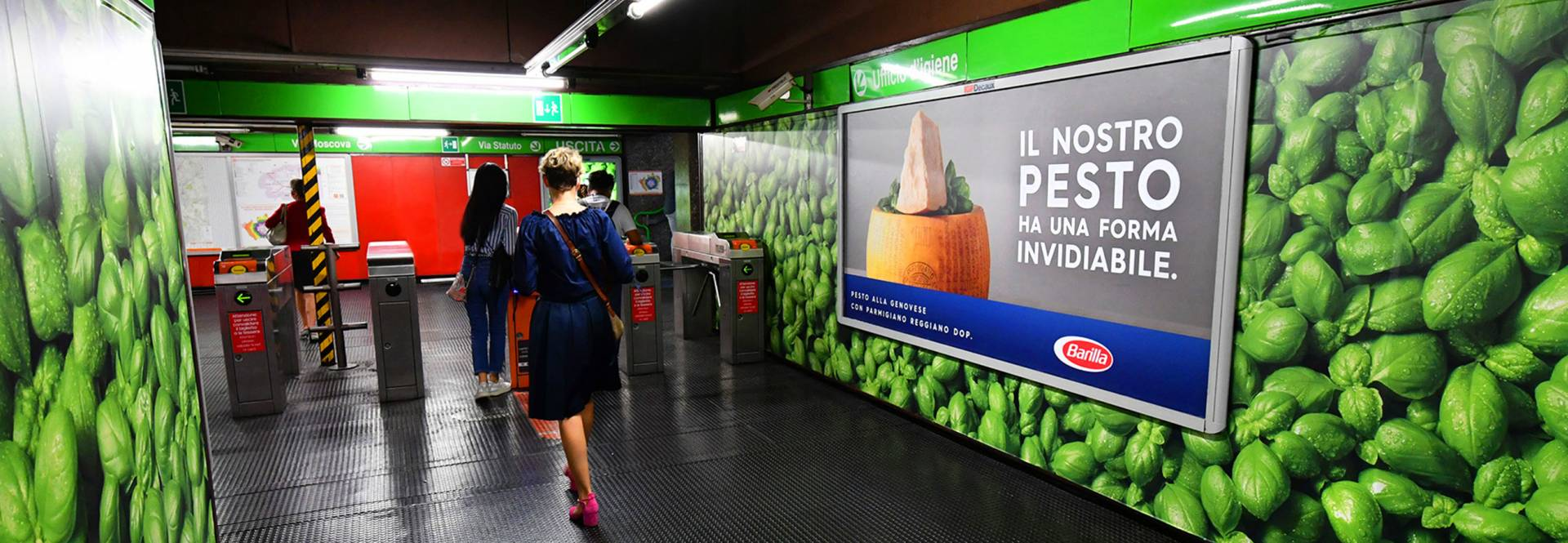 Banner Barilla Station Domination IGPDecaux Milano