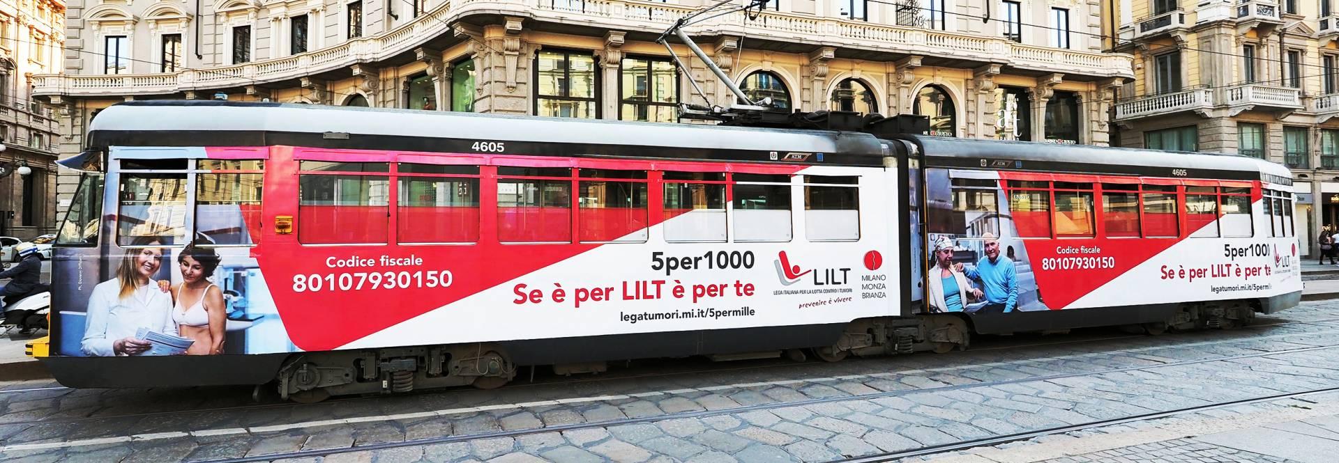 campagna OOH IGPDecaux Milano per LILT