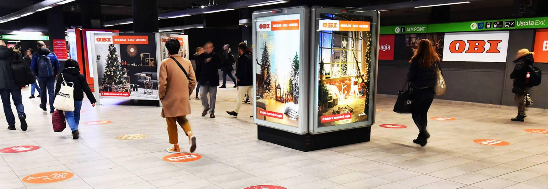 Banner OBI Italia Station Domination Natale