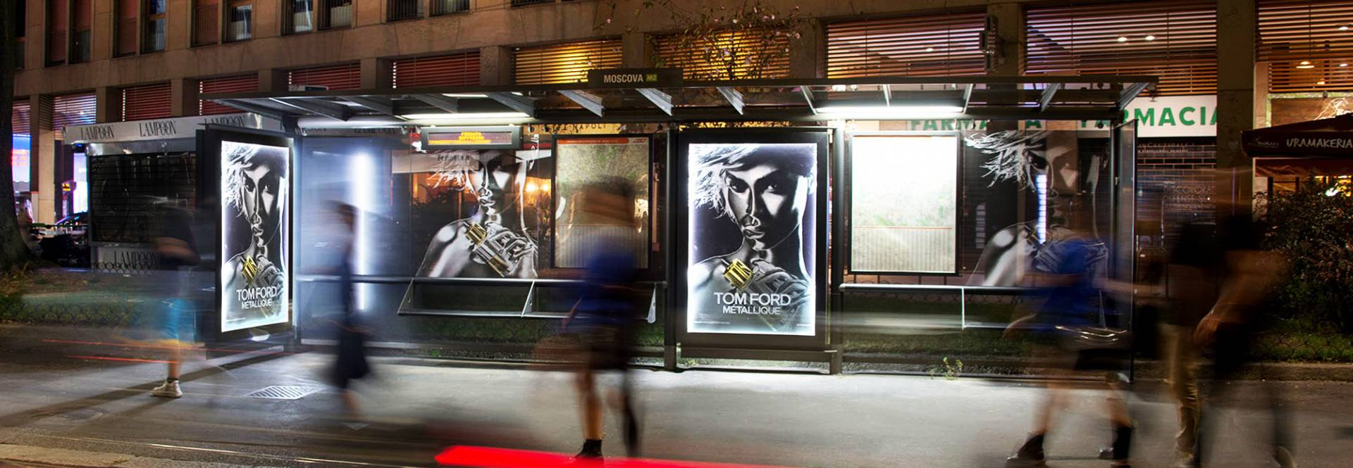 Brand Shelters in Milan IGPDecaux for Tom Ford