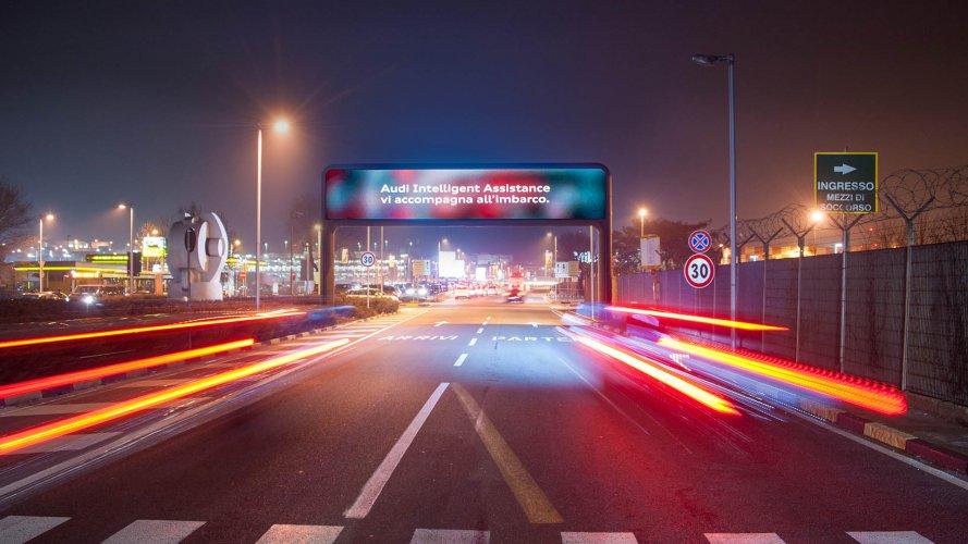 Pubblicità in aeroporti IGPDecaux portale digital per Audi a Linate