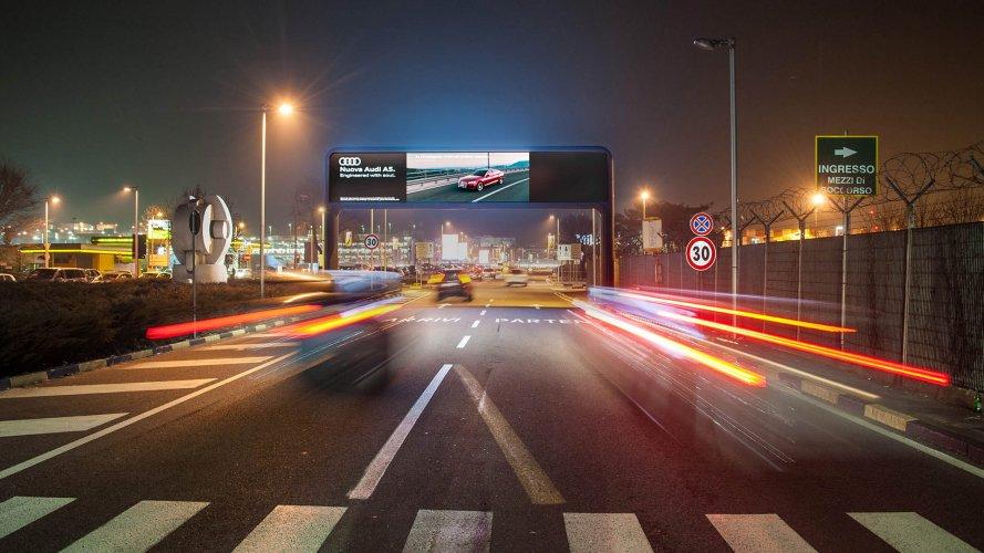 Spazi pubblicitari aeroporto portale digital a Linate per Audi IGPDecaux
