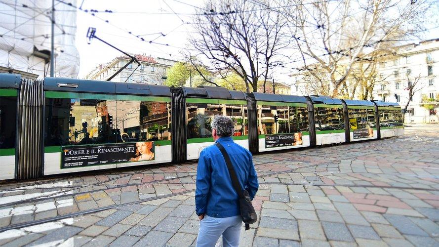 Pubblicità automezzi IGPDecaux Side Banner a Milano per Dürer e il Rinascimento