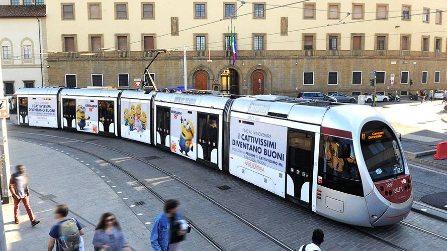 IGPDecaux Out of Home Full-Wrap a Firenze per Esselunga
