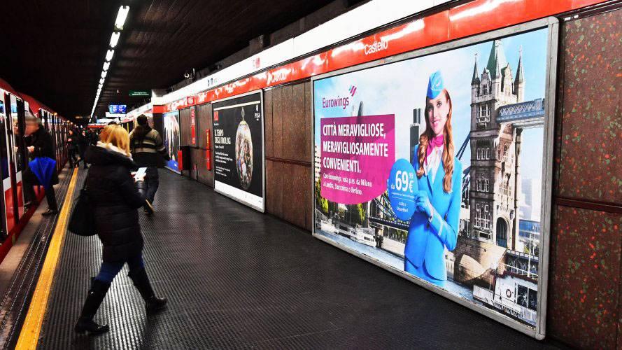 Comunicazione esterna IGPDecaux Milano Circuito a Copertura Landscape per Eurowings