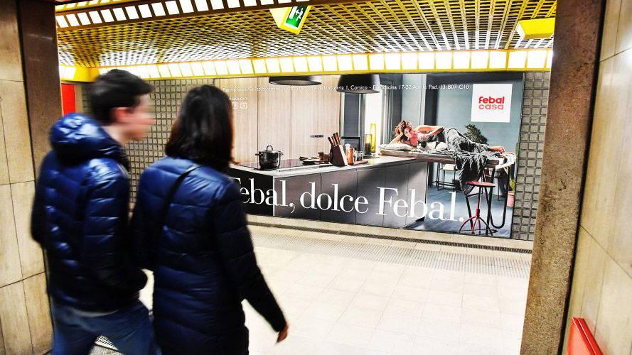 Pubblicità metro Milano IGPDecaux Circuito a Copertura Landscape per Fabel