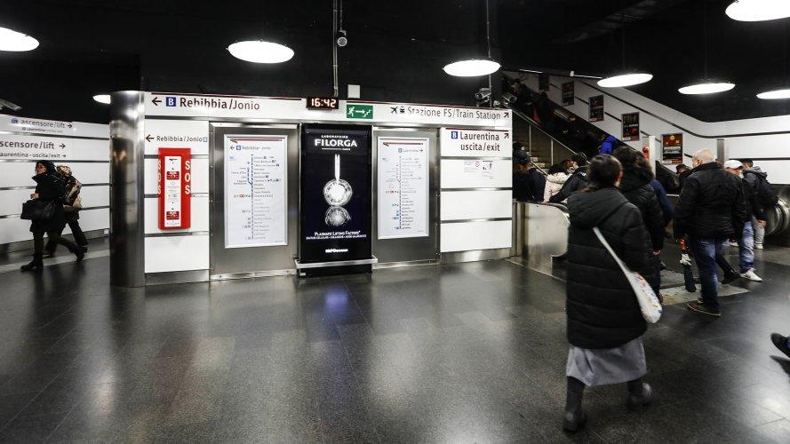 Pubblicità metropolitana IGPDecaux Network Vision Metropolitana a Roma per Filorga