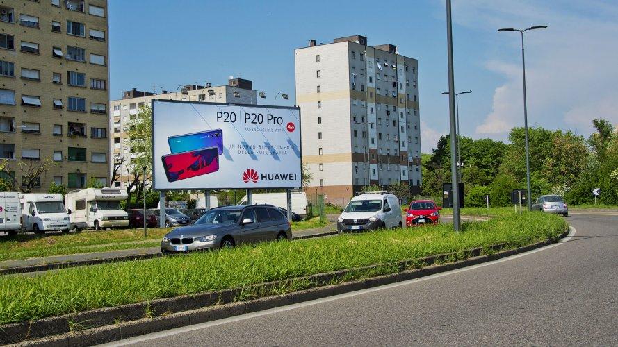 Cartellonistica pubblicitaria IGPDecaux Milano medio formato per Huawei