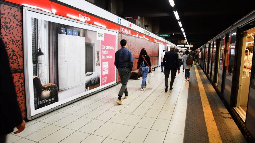 Pubblicità metro Milano IGPDecaux Circuito a Copertura Landscape per Ikea Bedroom