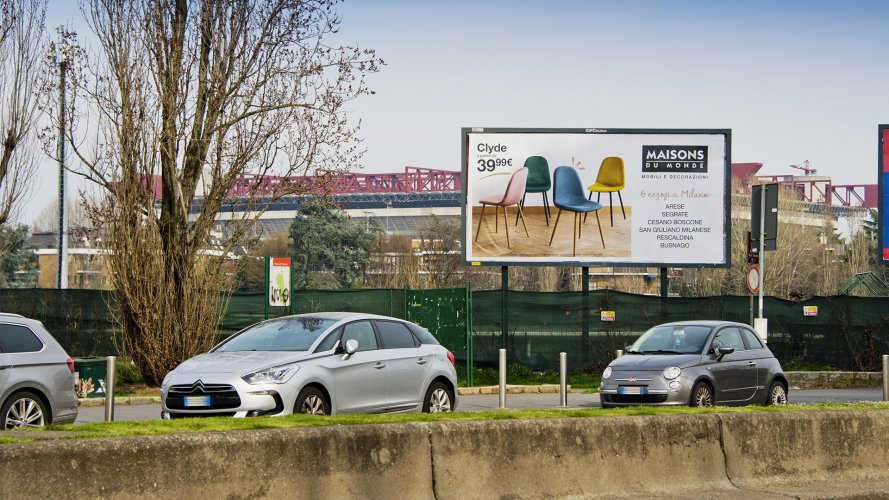 Outdoor advertising IGPDecaux poster in Milan for Maison du Monde
