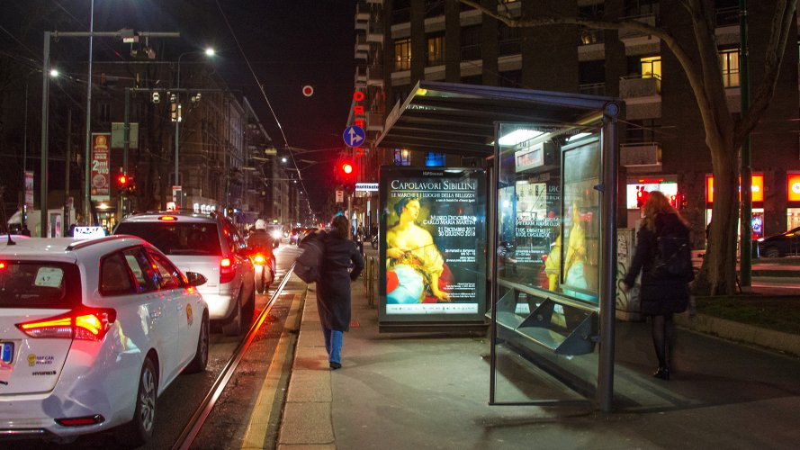 IGPDecaux Milan advertising bus shelter + Mupi for Regione Marche