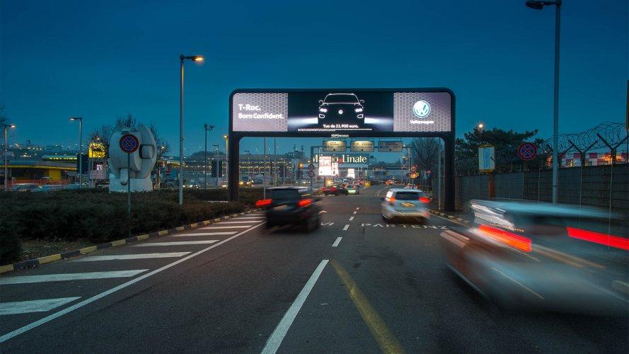 Pubblicità aeroporto Linate portale digital per Volkswagen IGPDecaux