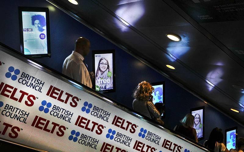 IGPDecaux Roma digital escalator per British Council