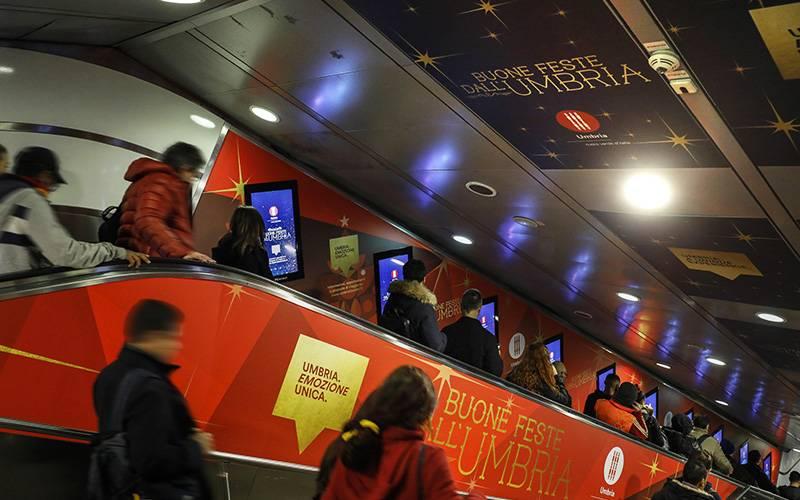 IGPDecaux OOH Advertising a Roma Digital Escalator per Regione Umbria